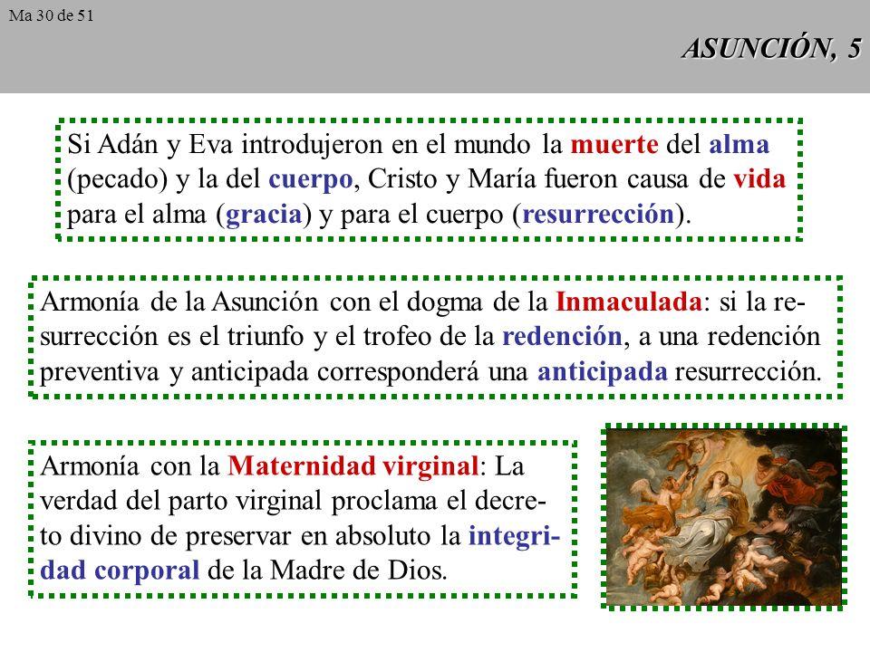 ASUNCIÓN, 4 Como Cristo resucitó de entre los muertos con su cuerpo glorioso y subió al cielo, así también la Virgen santísima, a Él asociada plenamen