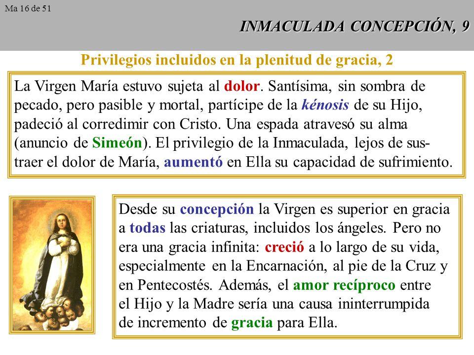 INMACULADA CONCEPCIÓN, 8 Los Padres descartan no sólo cualquier especie de pecado en la Madre de Dios, también la juzgan ajena a toda imperfección vo-