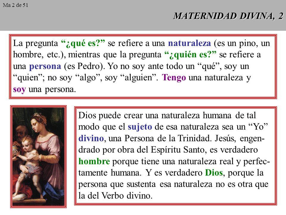 MATERNIDAD DIVINA, 1 A los cristianos del siglo V les resultaba familiar la palabra Theotókos, que significa Madre de Dios. El patriarca de Constantin