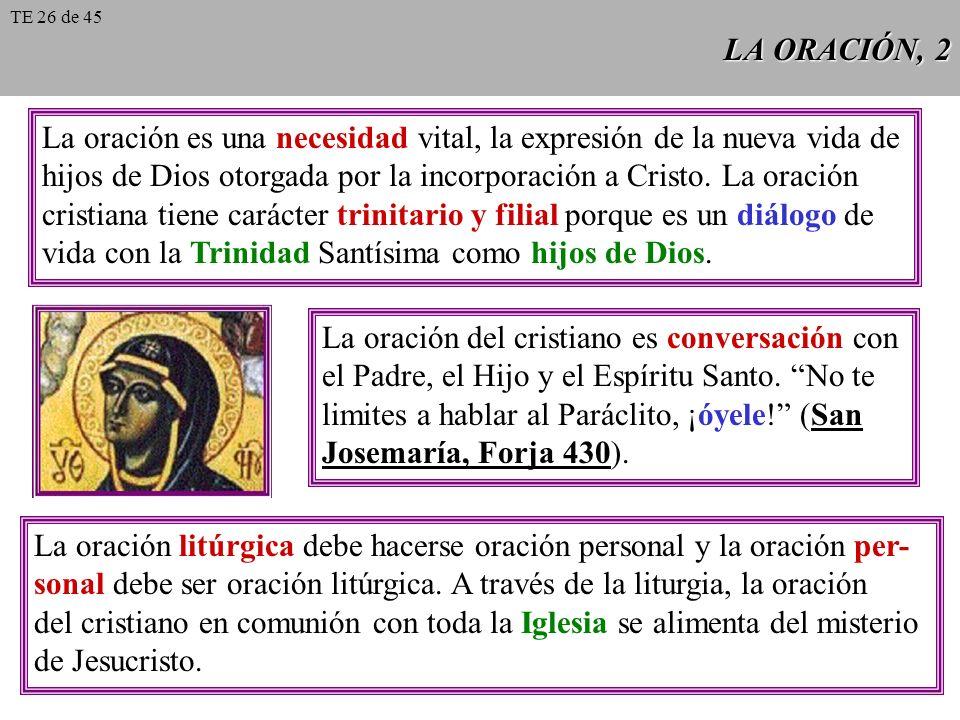 LA ORACIÓN, 3 La oración vocal: se hace interior en la medida en que tomamos conciencia de qué hablamos, de Aquél a quien hablamos y de quién habla.