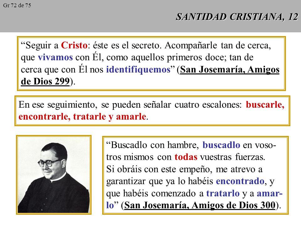 SANTIDAD CRISTIANA, 11 El fruto del trato con Dios, de la auténtica vida interior, se manifiesta en toda la vida de la persona: en su caridad, en su trabajo, en su alegría, etc..