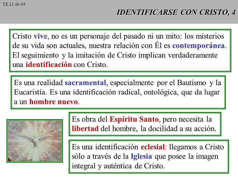 IDENTIFICARSE CON CRISTO, 5 La imitación de Cristo se traduce en el trato personal del cristiano con Jesucris- to.