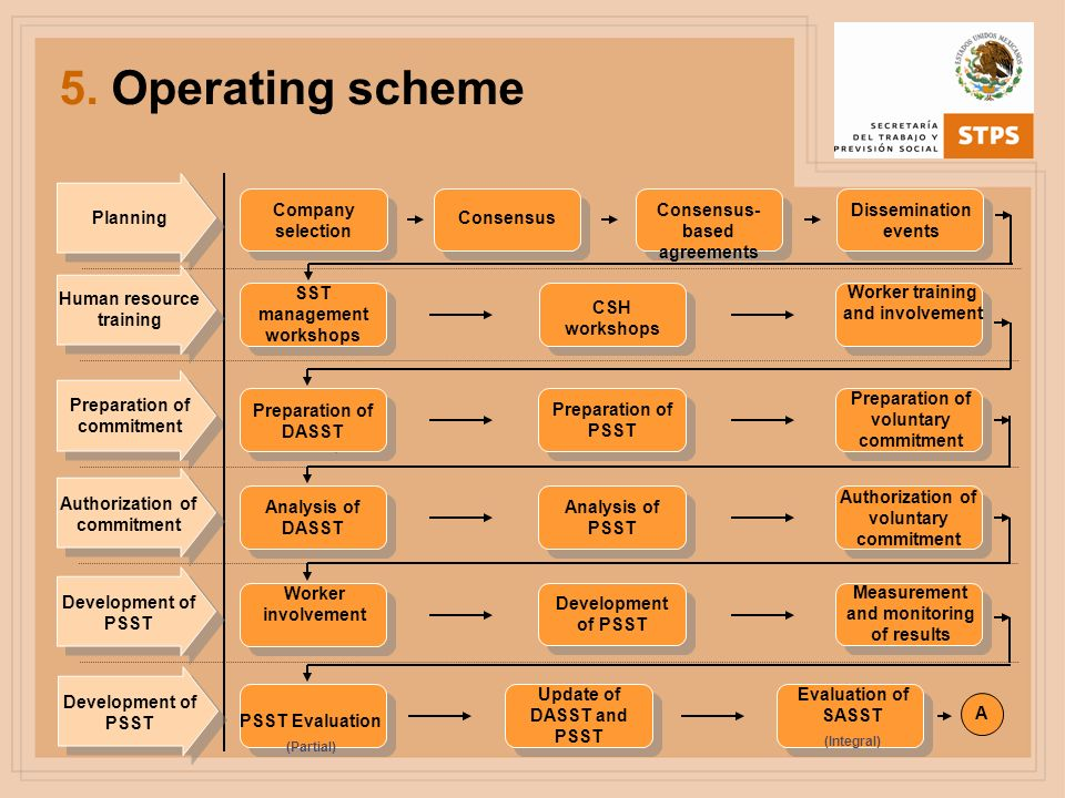 5. Operating scheme Preparation of DASST Preparation of PSST Preparation of voluntary commitment Preparation of commitment Company selection Consensus