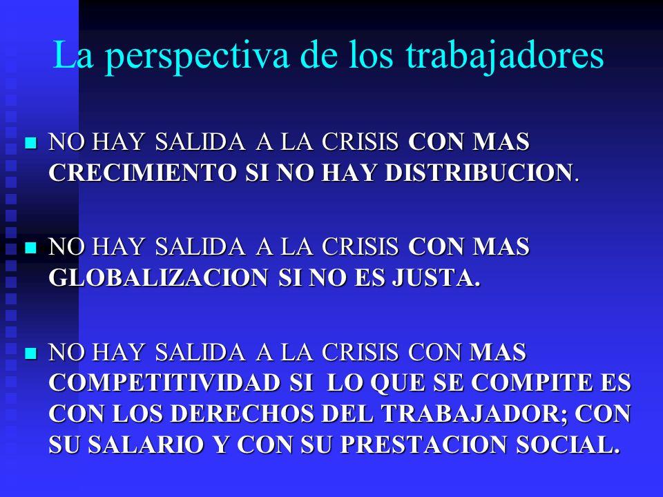 La perspectiva de los trabajadores NO HAY SALIDA A LA CRISIS CON MAS CRECIMIENTO SI NO HAY DISTRIBUCION. NO HAY SALIDA A LA CRISIS CON MAS CRECIMIENTO