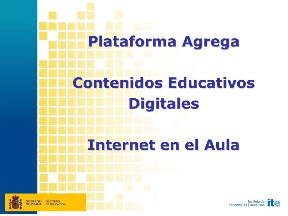 Plataforma Agrega Contenidos Educativos Digitales Internet en el Aula