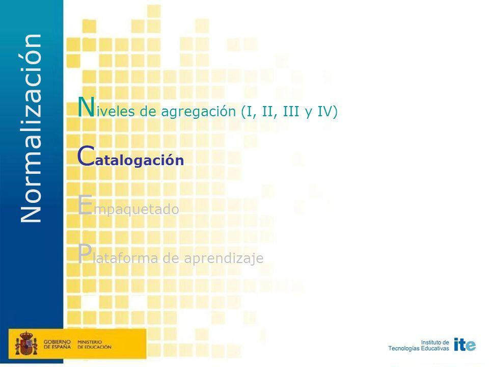 Nivel de agregación IV Objeto digital formado numerosas Secuencias Didácticas que completan un curso, un plan de estudios...