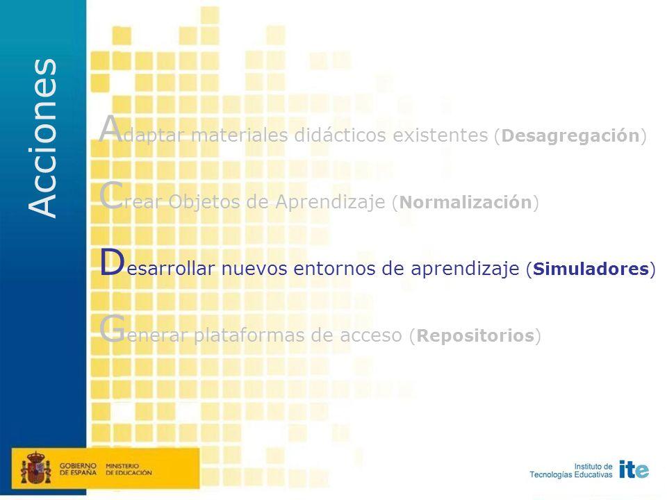 Crear OEDN 3.200 OA (n. II) de aquellas áreas con menor número de recursos disponibles Producción