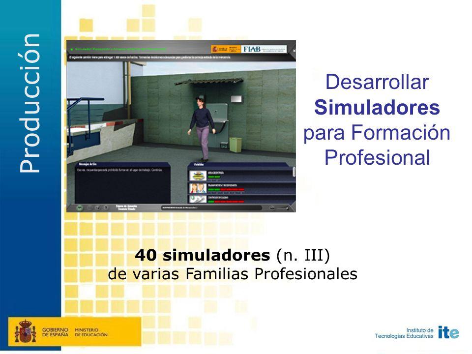 Acciones A daptar materiales didácticos existentes (Desagregación) C rear Objetos de Aprendizaje (Normalización) D esarrollar nuevos entornos de aprendizaje (Simuladores) G enerar plataformas de acceso (Repositorios)