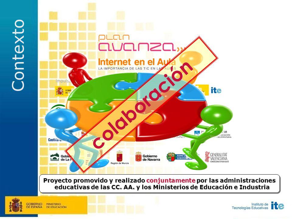 Proyecto promovido y realizado conjuntamente por las administraciones educativas de las CC.
