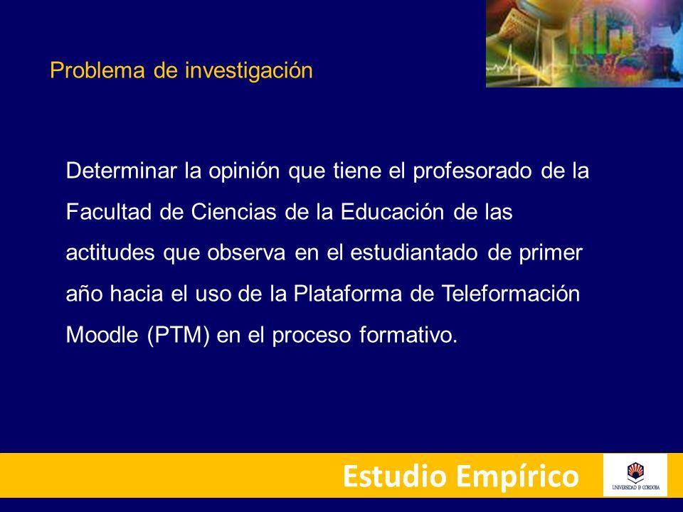 Determinar la opinión que tiene el profesorado sobre la actitud que manifiesta el alumnado hacia uso de la plataforma de Teleformación Moodle (PTM) como apoyo en el proceso de enseñanza – aprendizaje.