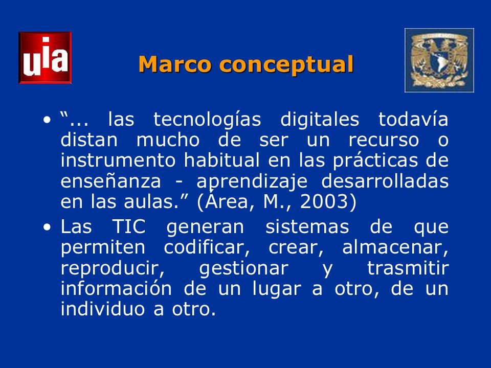 ... las tecnologías digitales todavía distan mucho de ser un recurso o instrumento habitual en las prácticas de enseñanza - aprendizaje desarrolladas