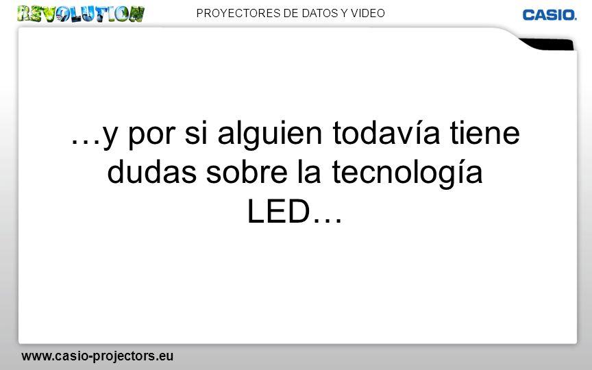 PROYECTORES DE DATOS Y VIDEO www.casio-projectors.eu …y por si alguien todavía tiene dudas sobre la tecnología LED…