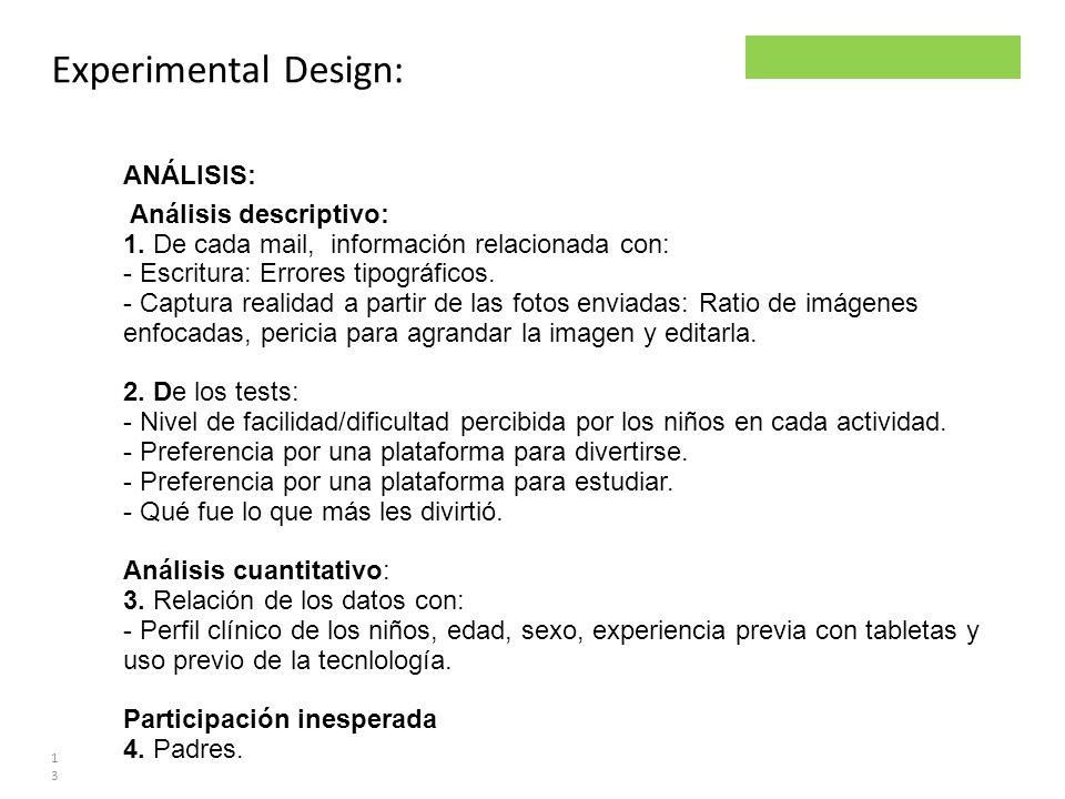 Parsley project Experimental Design: 13 ANÁLISIS: Análisis descriptivo: 1. De cada mail, información relacionada con: - Escritura: Errores tipográfico