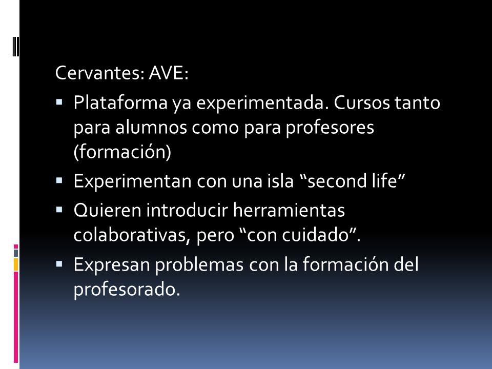 Cervantes: AVE: Plataforma ya experimentada.