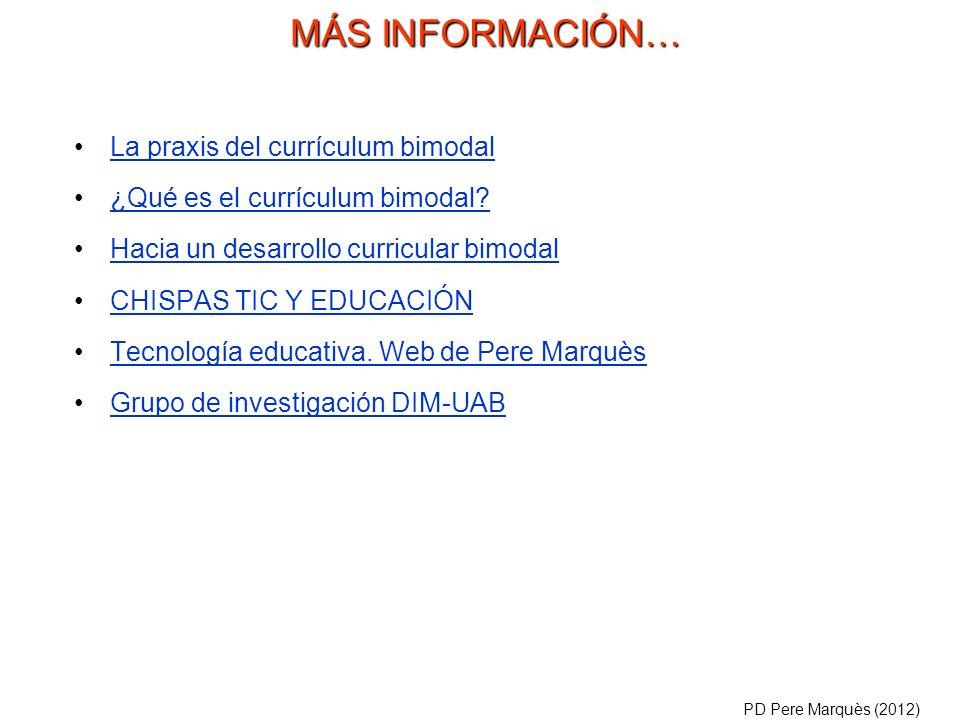 La praxis del currículum bimodal ¿Qué es el currículum bimodal.