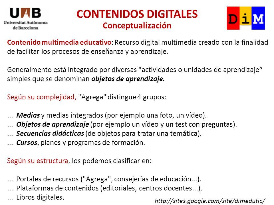 Contenido multimedia educativo: Recurso digital multimedia creado con la finalidad de facilitar los procesos de enseñanza y aprendizaje.