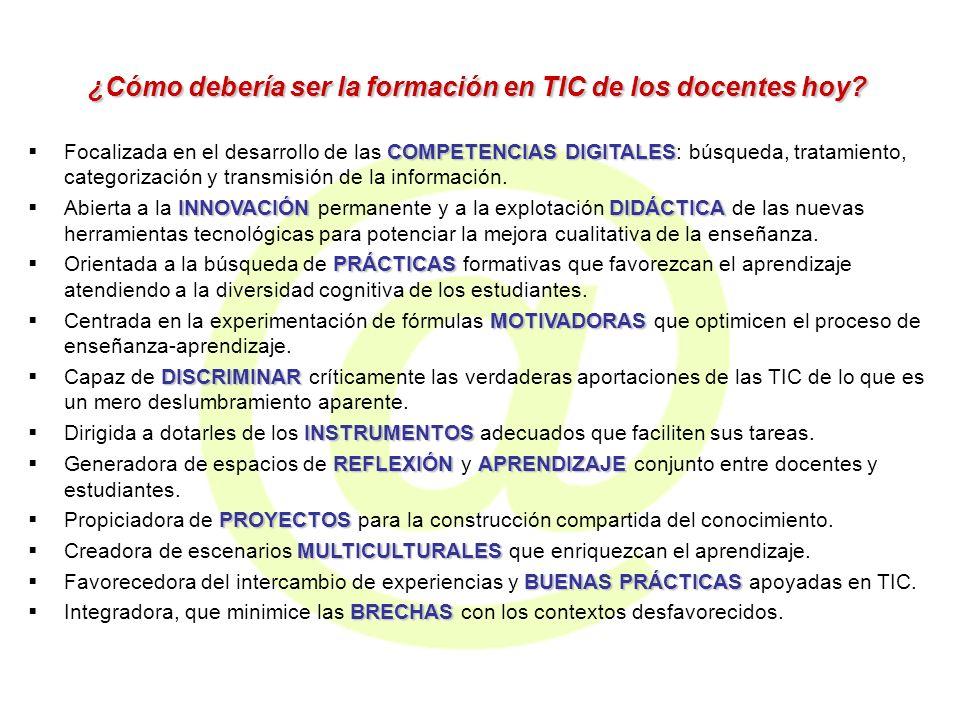 ¿Cómo debería ser la formación en TIC de los docentes hoy.