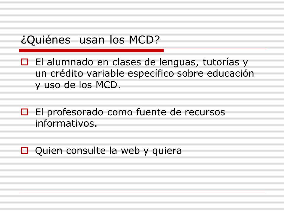 ¿Por qué usar los MCD en un instituto.