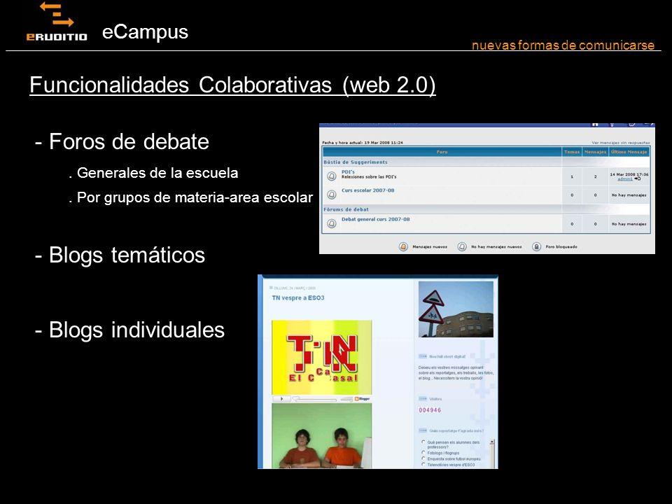 eCampus - Foros de debate. Generales de la escuela.
