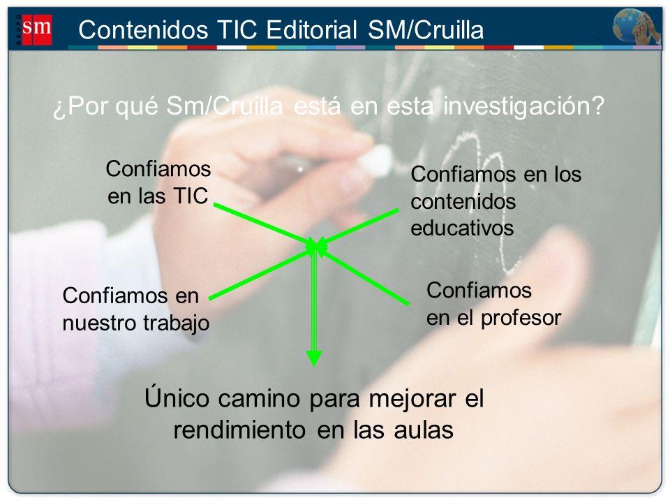 Contenidos TIC Editorial SM/Cruilla ¿Qué objetivo tiene esta investigación.