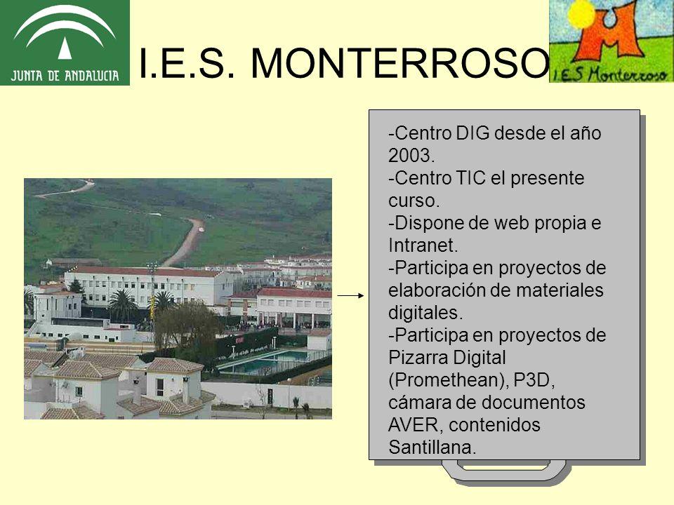 -Centro DIG desde el año 2003. -Centro TIC el presente curso.
