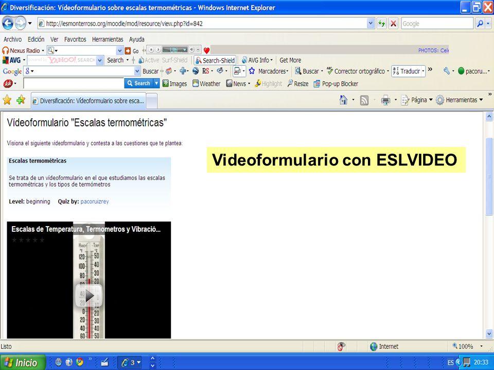 Videoformulario con ESLVIDEO