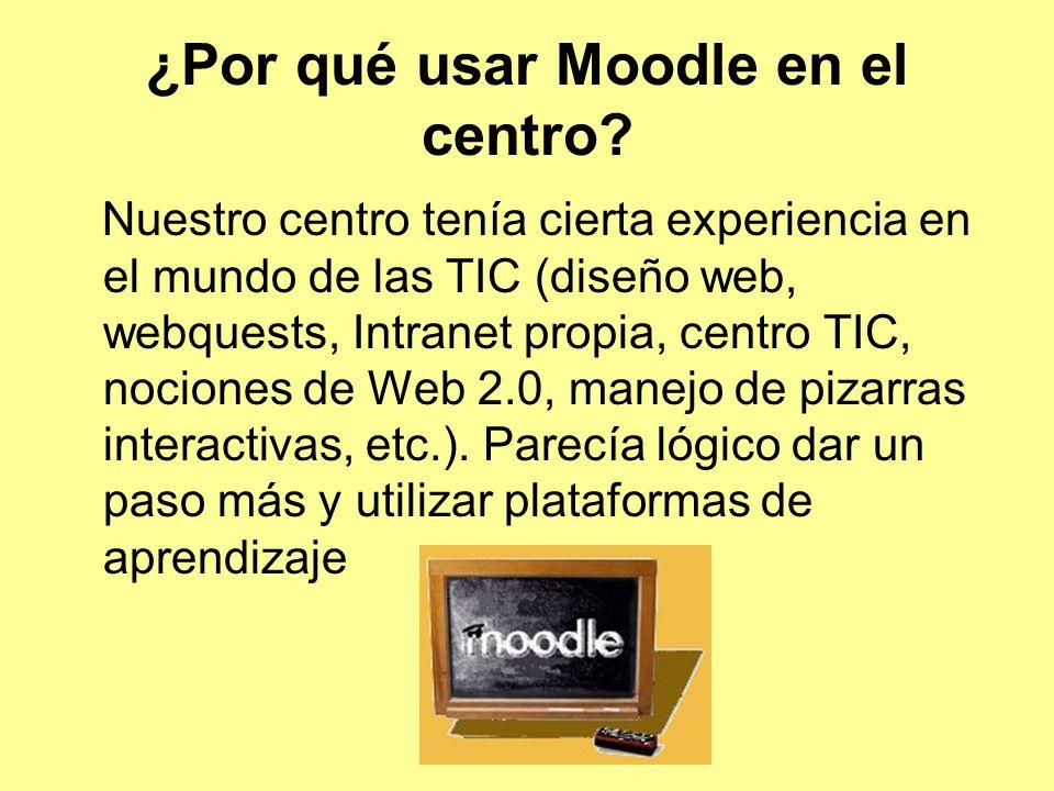¿Por qué usar Moodle en el centro.