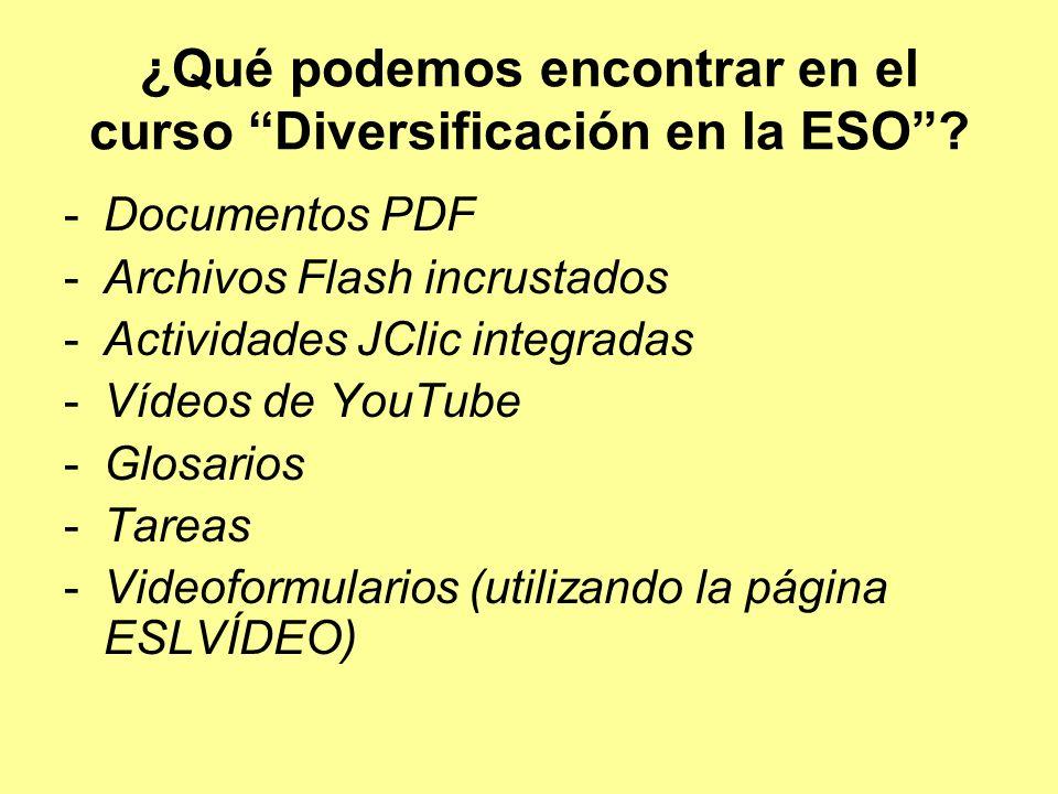 ¿Qué podemos encontrar en el curso Diversificación en la ESO.
