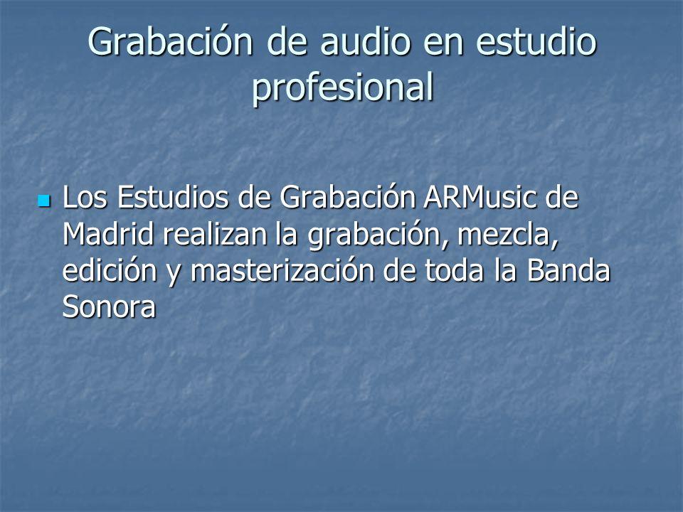 Grabación de audio en estudio profesional Los Estudios de Grabación ARMusic de Madrid realizan la grabación, mezcla, edición y masterización de toda l