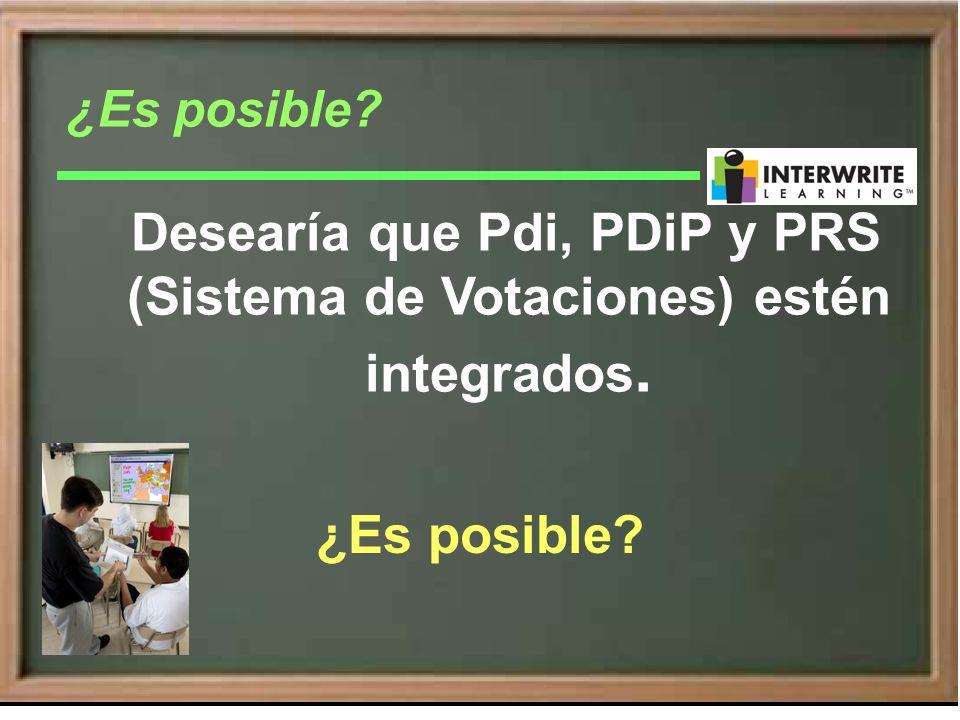 Desearía que Pdi, PDiP y PRS (Sistema de Votaciones) estén integrados. ¿Es posible?