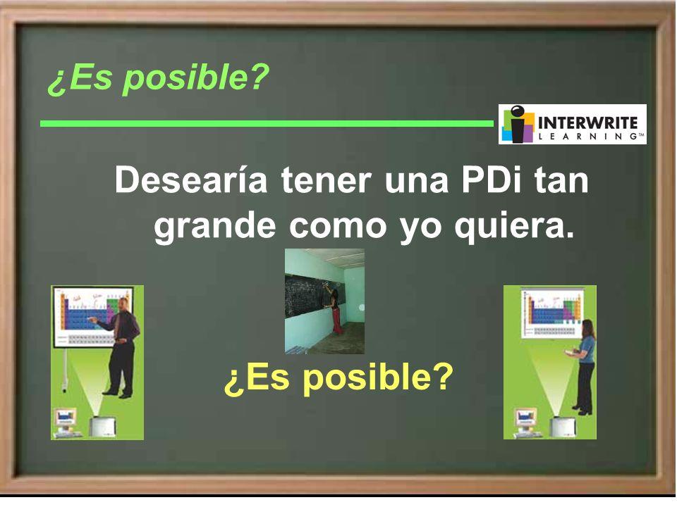 Desearía convertir cualquier superficie en una PDi ¿Es posible?