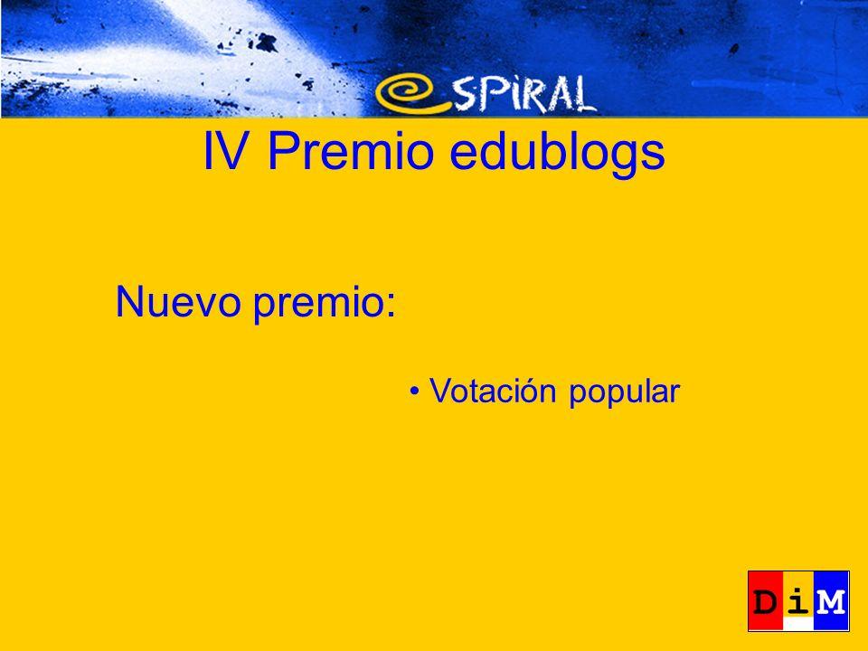 Nuevo premio: Votación popular IV Premio edublogs