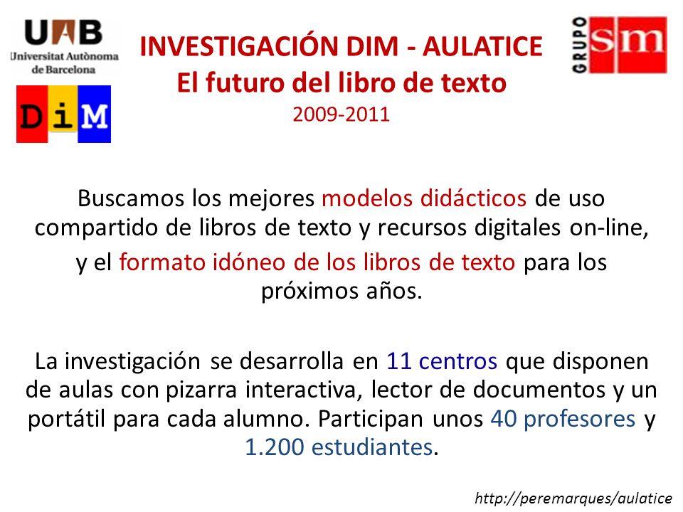 - Identificar y experimentar los mejores modelos didácticos de uso conjunto de libros de texto y contenidos digitales.