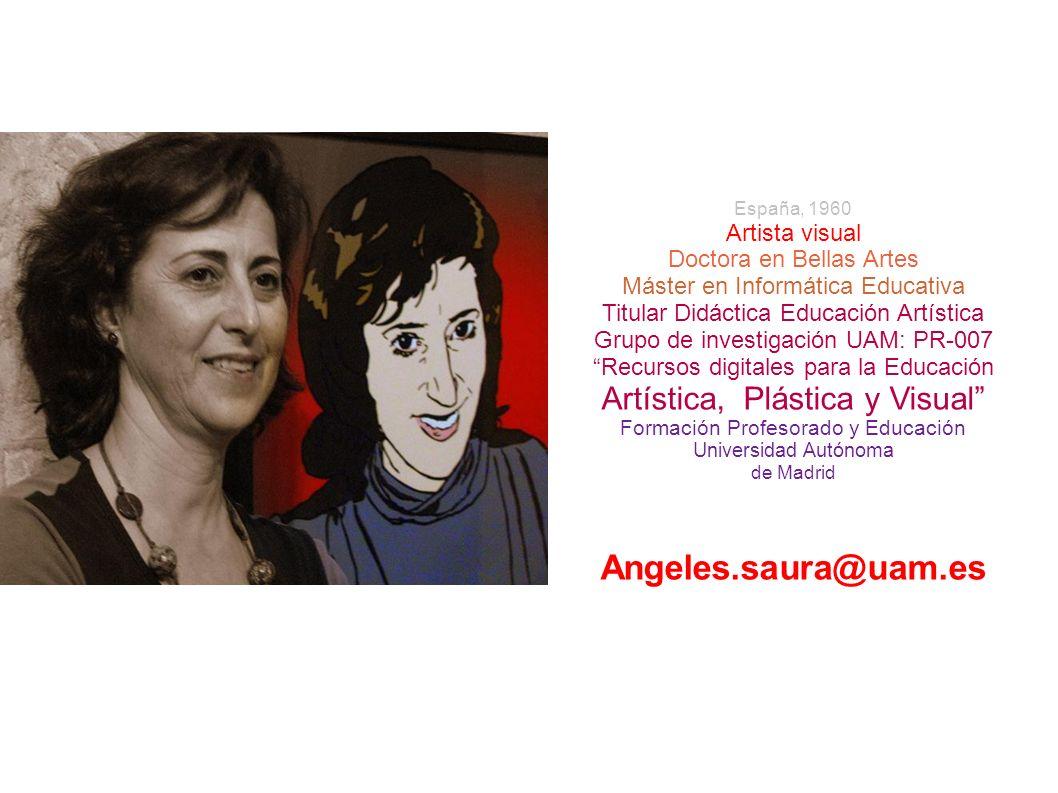 España, 1960 Artista visual Doctora en Bellas Artes Máster en Informática Educativa Titular Didáctica Educación Artística Grupo de investigación UAM:
