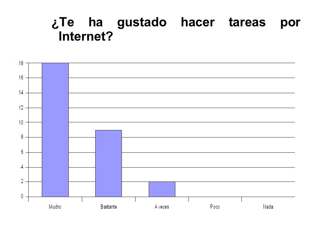 ¿Te ha gustado hacer tareas por Internet