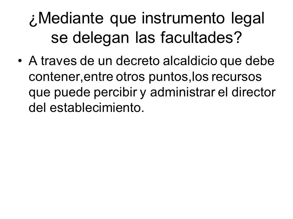 ¿Mediante que instrumento legal se delegan las facultades.