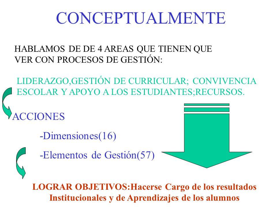 1.-AREA LIDERAZGO 1.VISIÓN ESTRATÉGICA Y PLANIFICACIÓN 2.CONDUCCIÓN DEL PROYECTO EDUCATIVO 3.ALIANZAS ESTRATÉGICAS 4.INFORMACIÓN Y ANÁLISIS LINEAMIENTOS QUE BUSCA: Responsables Principales: Equipo Directivo y Equipos de Gestión.