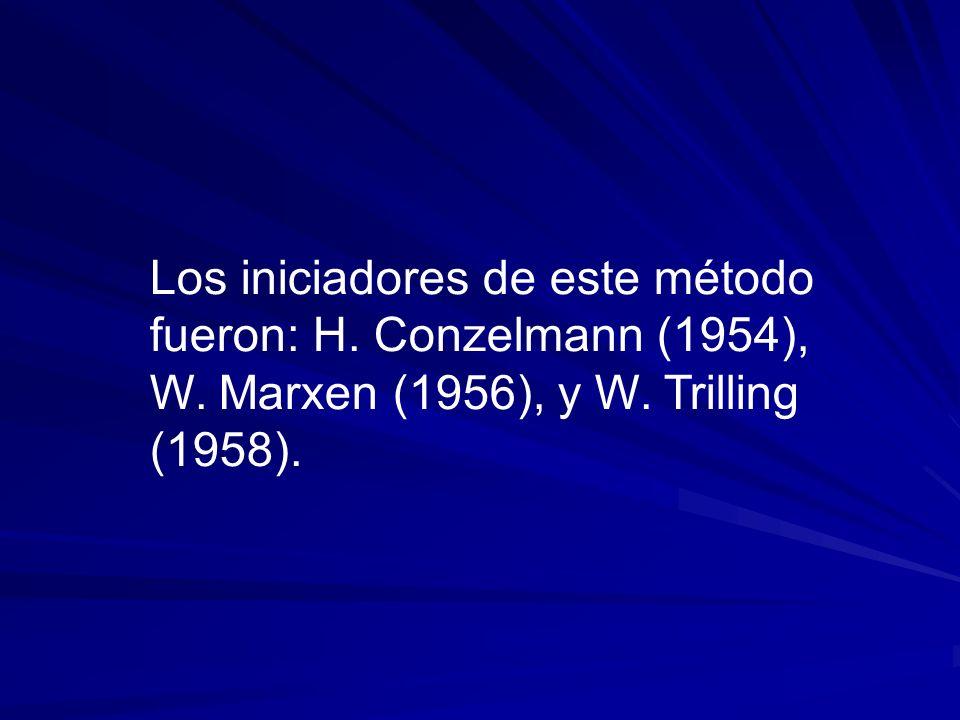 Los iniciadores de este método fueron: H. Conzelmann (1954), W. Marxen (1956), y W. Trilling (1958).