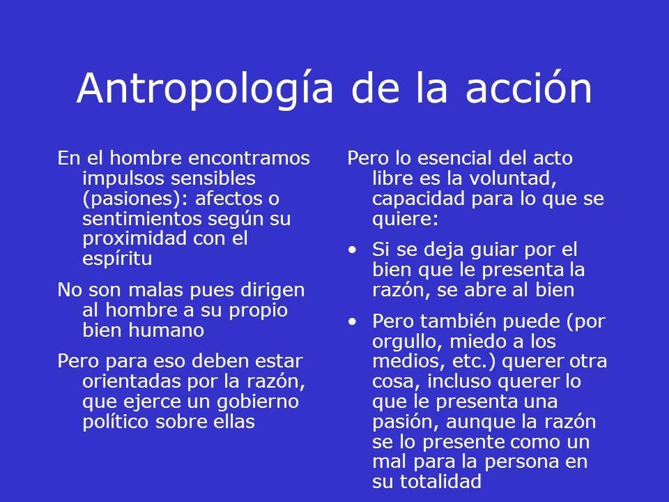 Capítulo II Antropología de la acción Las antropologías actuales esencialmente son 2: Los que consideran al hombre como un simple animal evolucionado