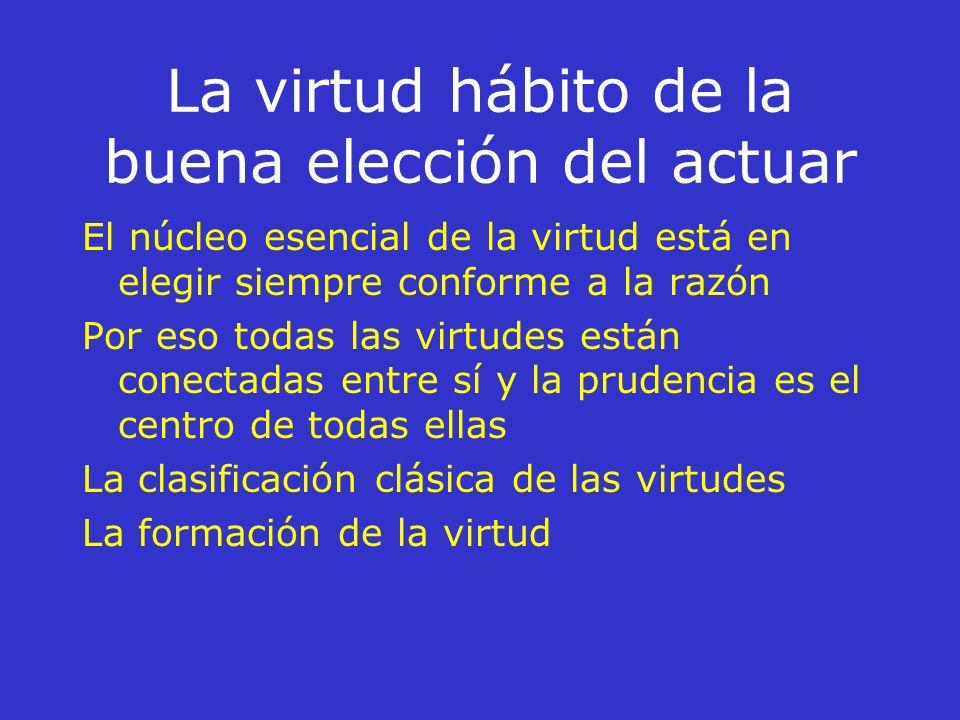 Capítulo IV La virtud moral Al estudiar la ética desde la primera persona se desemboca naturalmente en las virtudes Concepto de virtud moral: –El cine