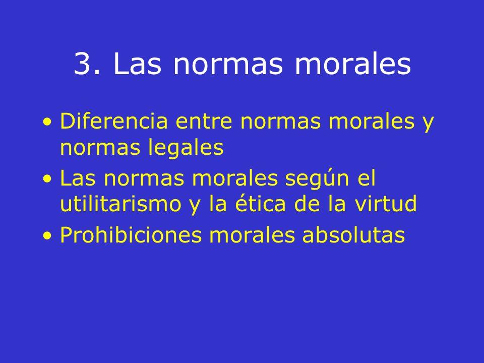 2. Ciencia moral y conciencia El hábito de la ciencia moral La conciencia moral La obligación moral y su fundamentación teónoma