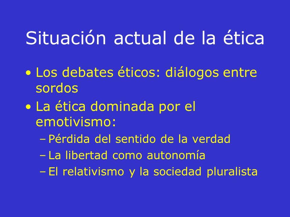 Prólogo Situación actual de la ética La acción humana El arte de vivir (la vida buena) La virtud La racionalidad práctica Las normas morales