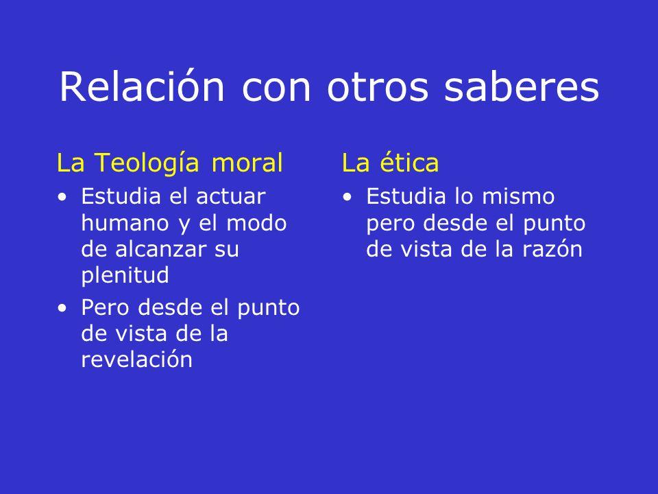 Relación con otros saberes La Psicología Estudia las acciones humanas desde sus leyes naturales (salud, enfermedad) La ética estudia las acciones huma