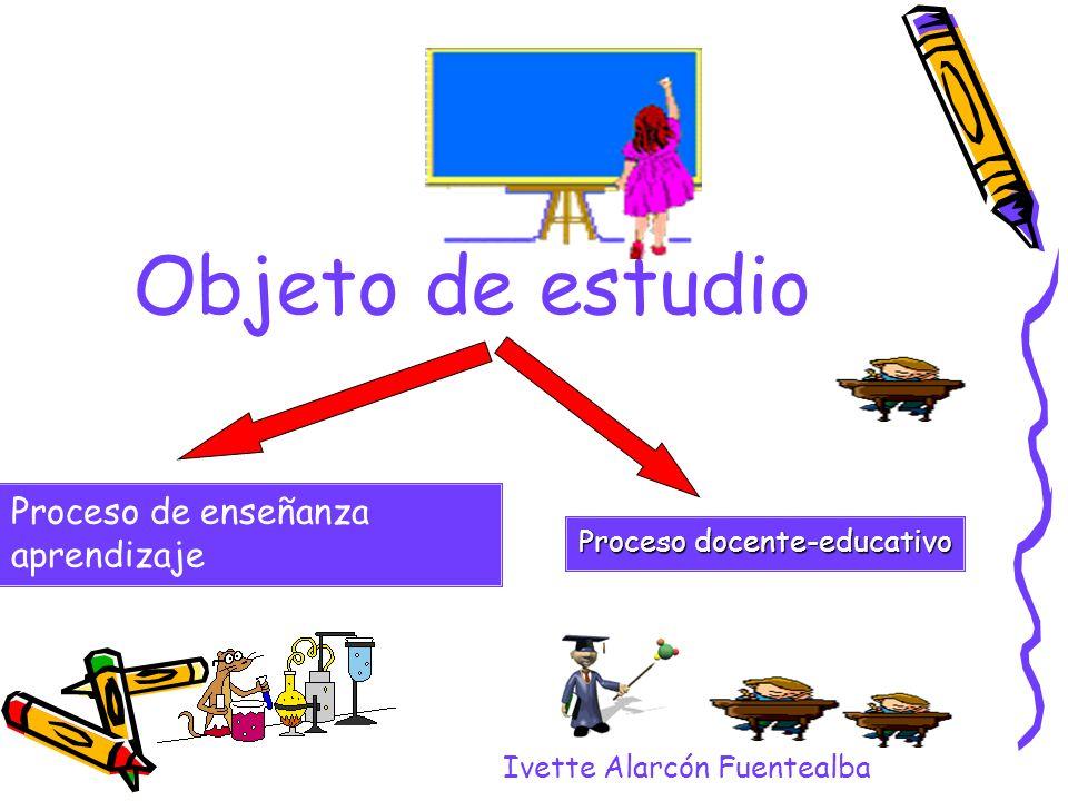 Objeto de estudio Ivette Alarcón Fuentealba Proceso de enseñanza aprendizaje Proceso docente-educativo
