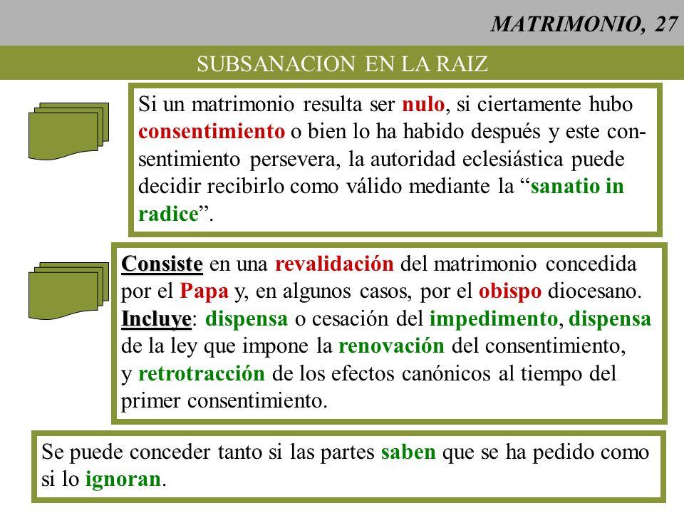 MATRIMONIO, 28 CASOS DE DISOLUCION DEL VINCULO MATRIMONIAL El Papa posee poder ministerial de dispensar, cuando hay una causa justa, de obligaciones de derecho divino que tienen su origen en un acto humano libre.