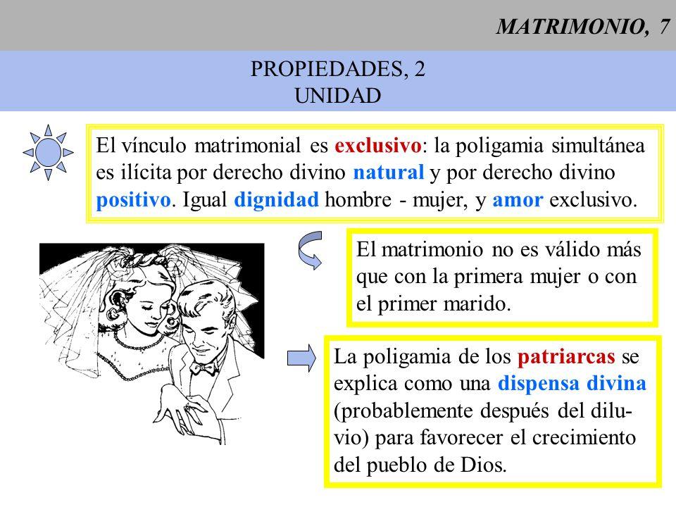 MATRIMONIO, 8 PROPIEDADES, 3 INDISOLUBILIDAD 1 Por institución del Creador, el vínculo matrimonial es perpetuo e indisoluble.