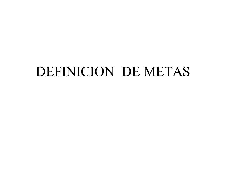 DEFINICION DE METAS