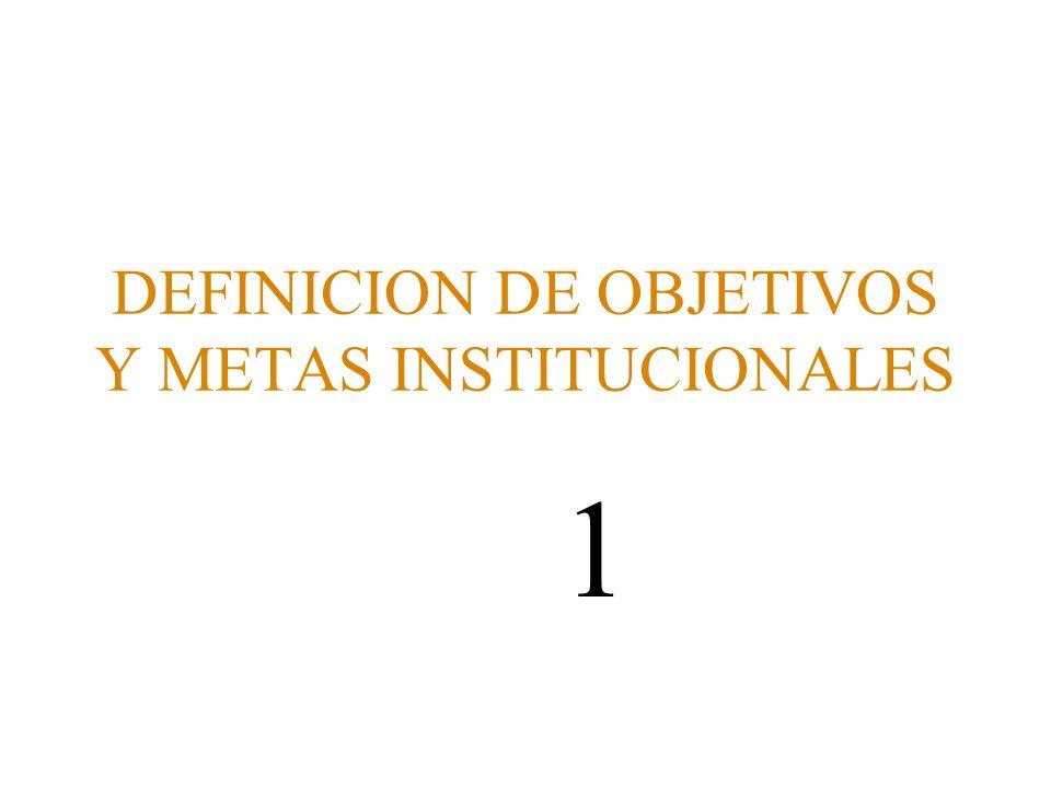 DEFINICION DE OBJETIVOS Y METAS INSTITUCIONALES 1