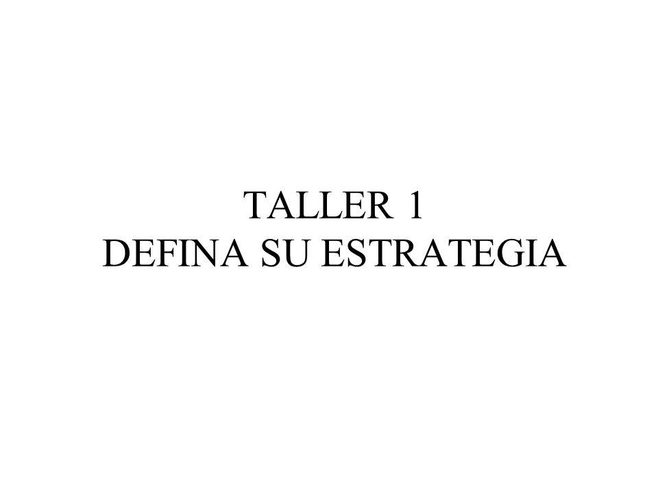 TALLER 1 DEFINA SU ESTRATEGIA