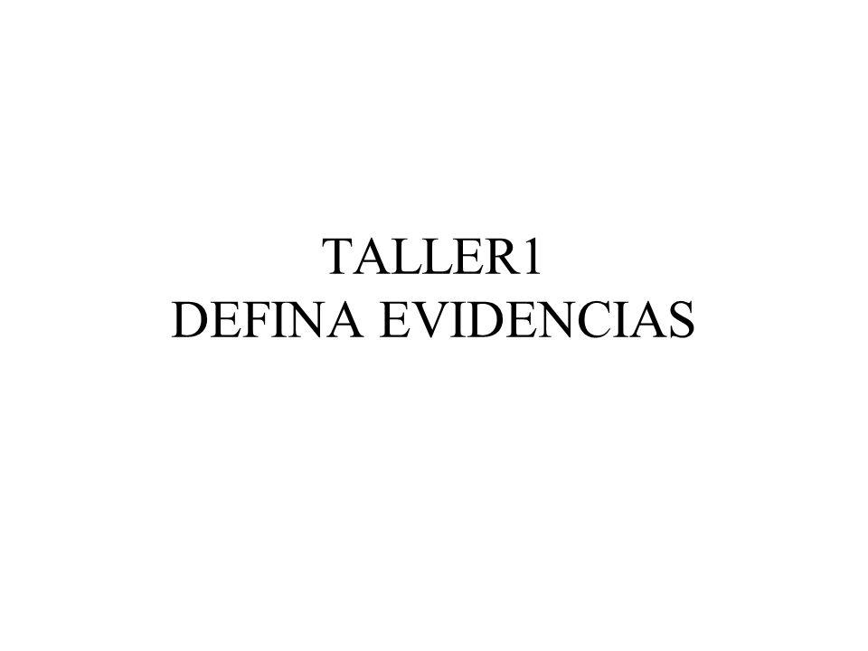 TALLER1 DEFINA EVIDENCIAS